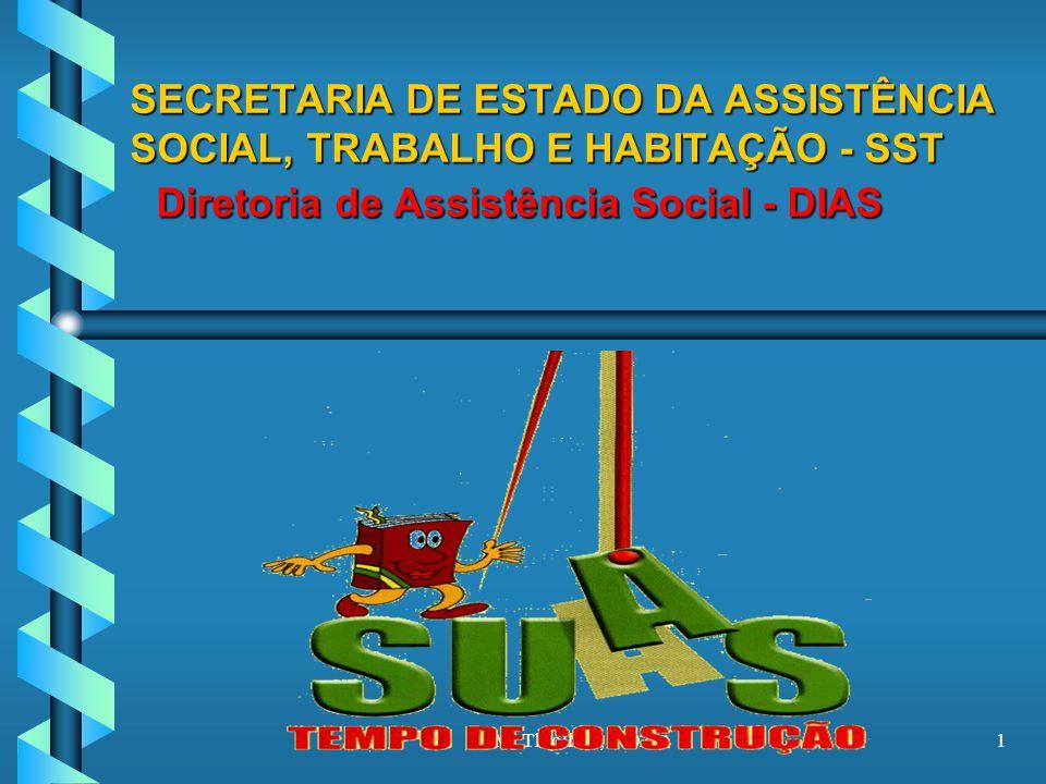 M. Thiollent, 20021 SECRETARIA DE ESTADO DA ASSISTÊNCIA SOCIAL, TRABALHO E HABITAÇÃO - SST Diretoria de Assistência Social - DIAS