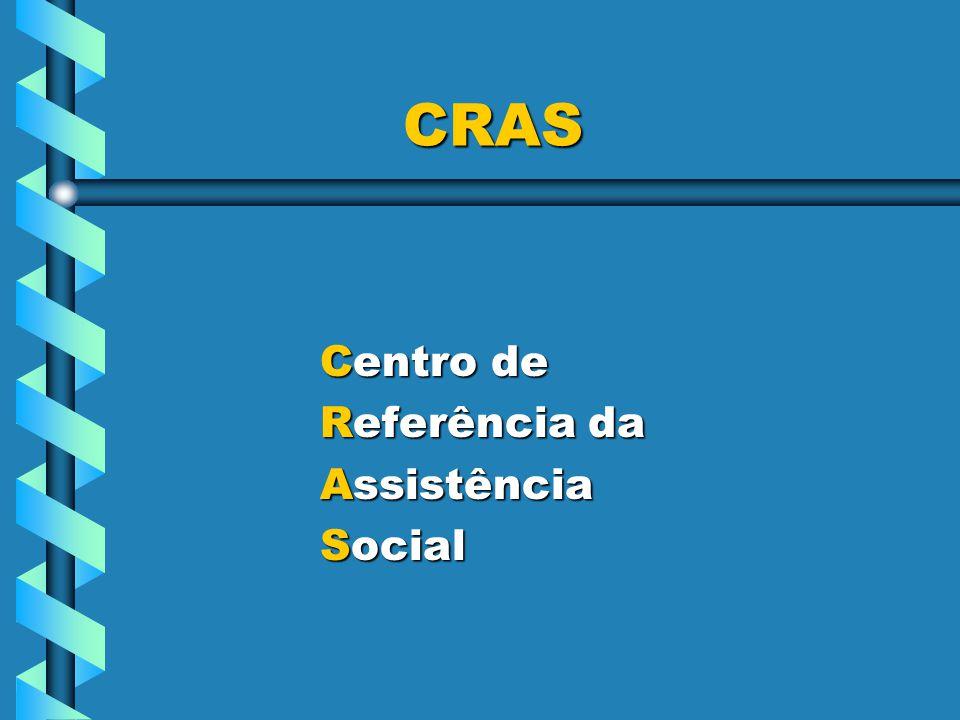 CRAS CRAS Centro de Centro de Referência da Referência da Assistência Assistência Social Social
