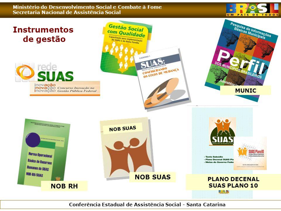 Ministério do Desenvolvimento Social e Combate à Fome Secretaria Nacional de Assistência Social Conferência Estadual de Assistência Social - Santa Cat