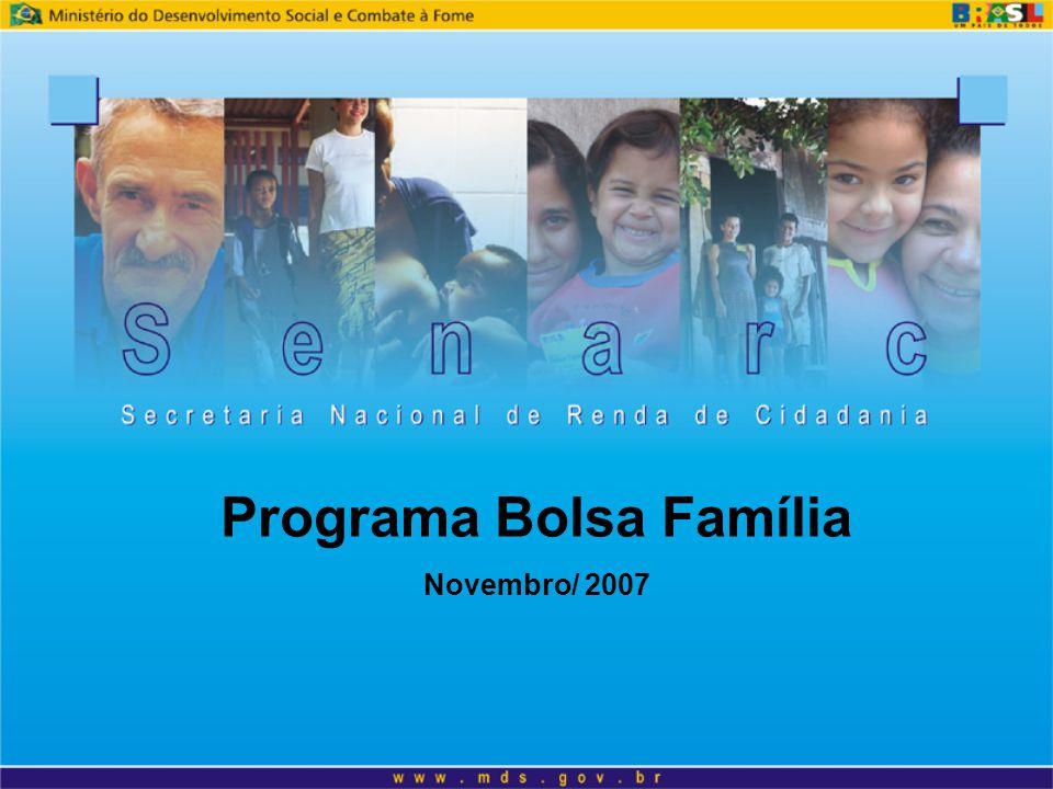 Programa Bolsa Família Novembro/ 2007
