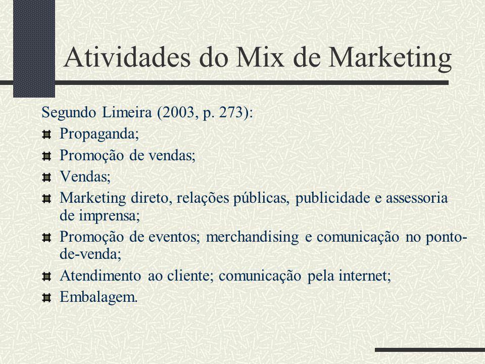 O processo de comunicação Resposta comportamental: Comportamentos e ações decorrentes de estímulos de marketing; Vendas; Participação de mercado obtid