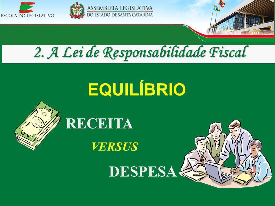 DESPESA RECEITA VERSUS EQUILÍBRIO 2. A Lei de Responsabilidade Fiscal