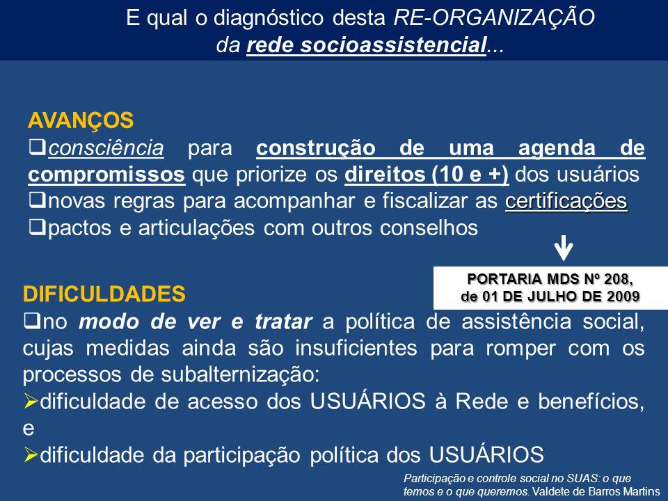Participação e controle social no SUAS: o que temos e o que queremos. Valdete de Barros Martins AVANÇOS consciência para construção de uma agenda de c