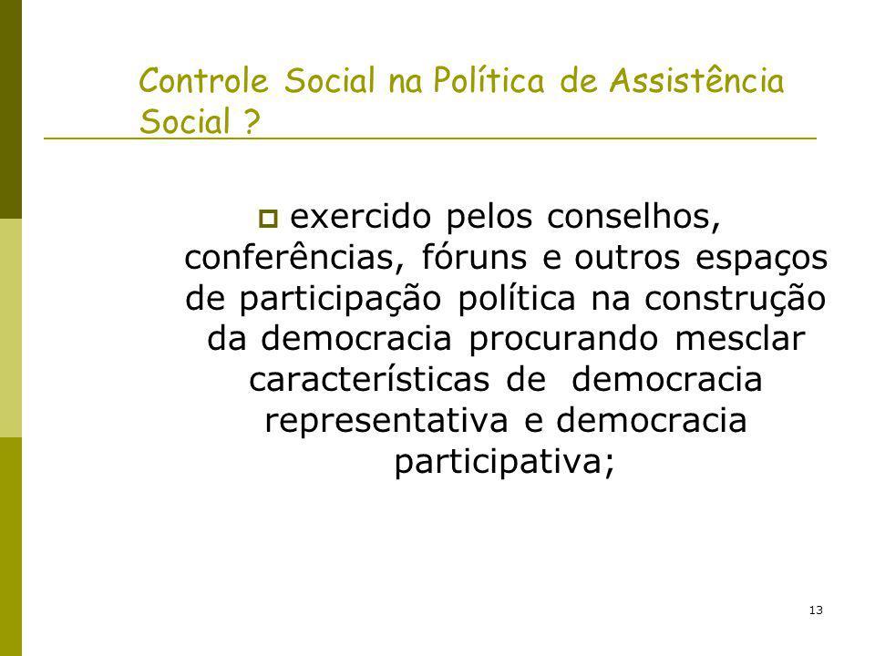 14 Profundamente inovadora a incorporação da dimensão participativa nessa Política Social - que tem sua história marcada pelo clientelismo, assistencialismo e da falta de transparência pública nas suas práticas.