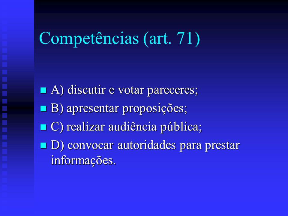 Competências (art.