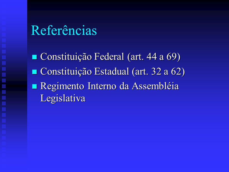 Referências Constituição Federal (art.44 a 69) Constituição Federal (art.
