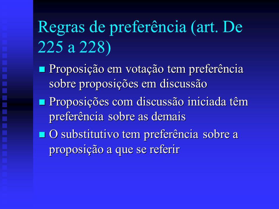 Regras de preferência (art.