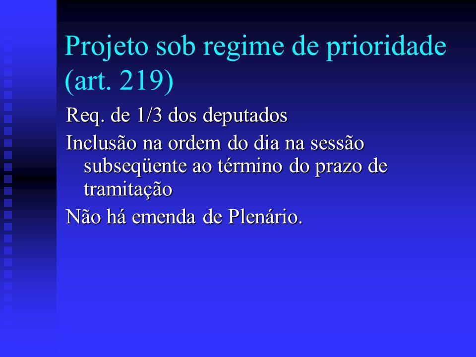 Projeto sob regime de prioridade (art.219) Req.