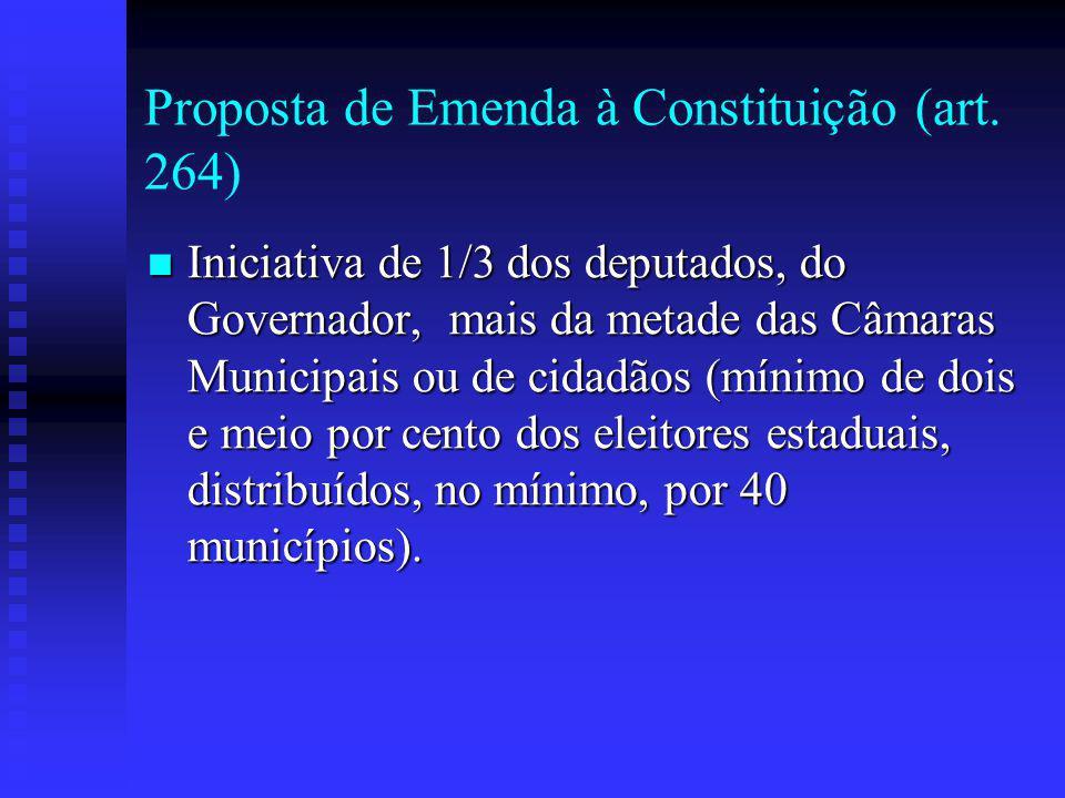 Proposta de Emenda à Constituição (art.