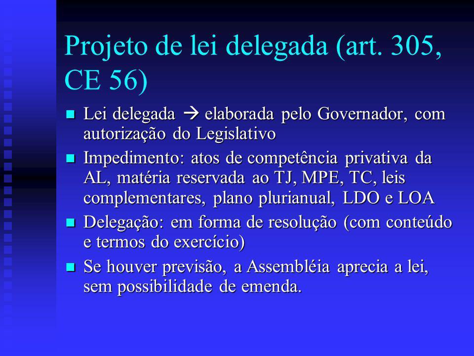 Projeto de lei delegada (art.