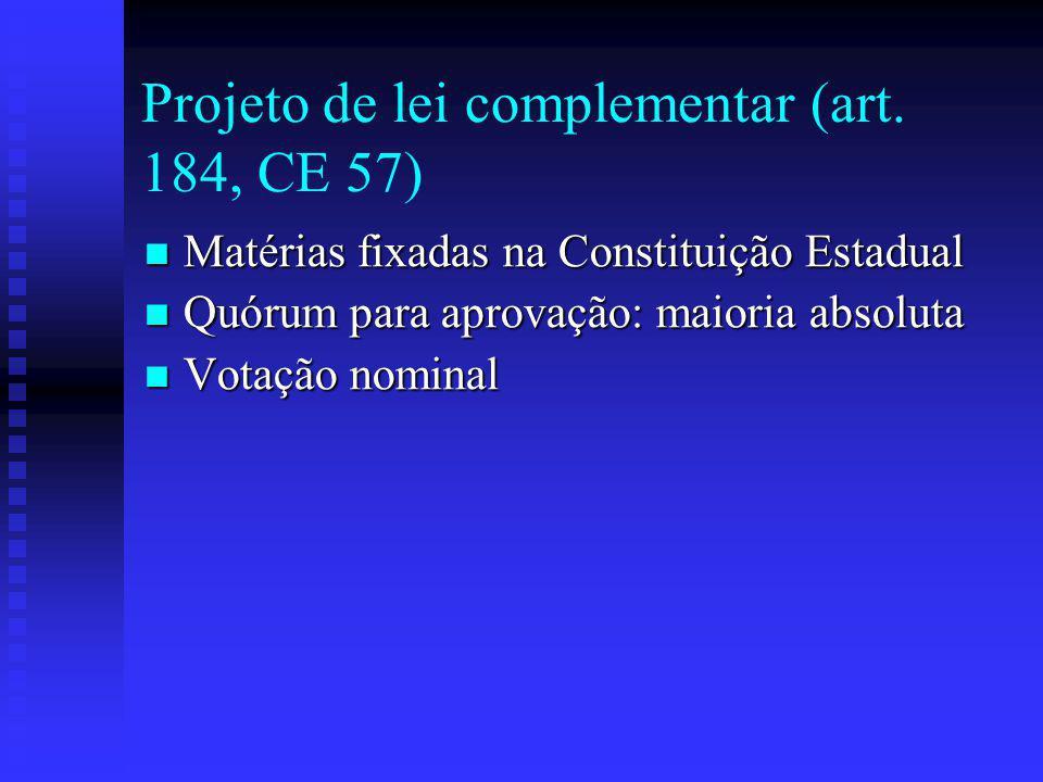 Projeto de lei complementar (art.