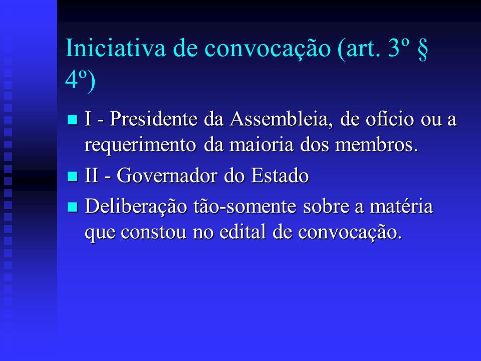 Iniciativa de convocação (art.