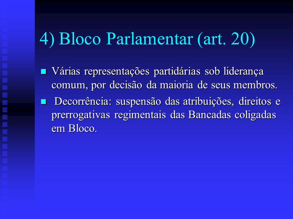 4) Bloco Parlamentar (art.