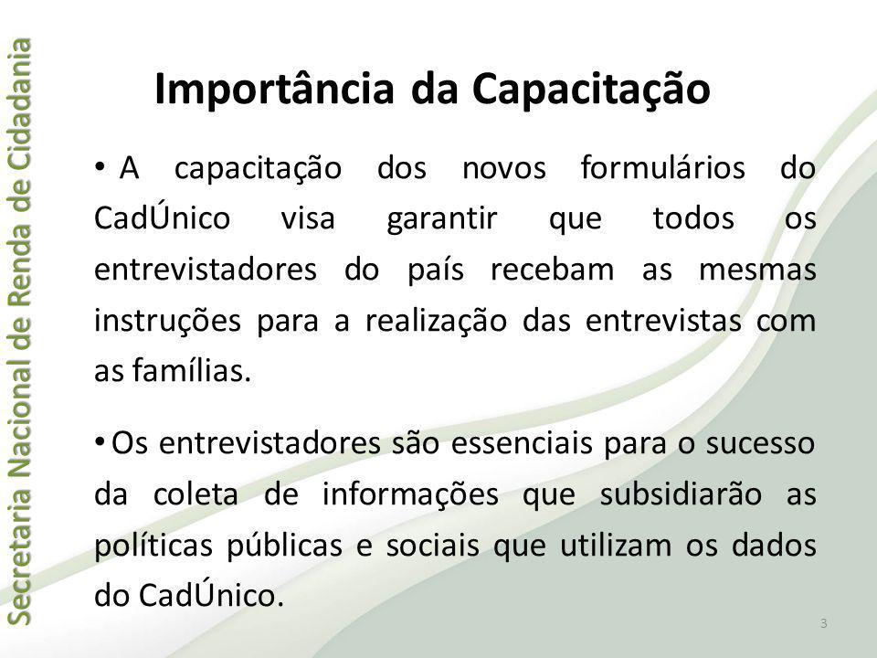 Secretaria Nacional de Renda de Cidadania Secretaria Nacional de Renda de Cidadania Importância da Capacitação A capacitação dos novos formulários do