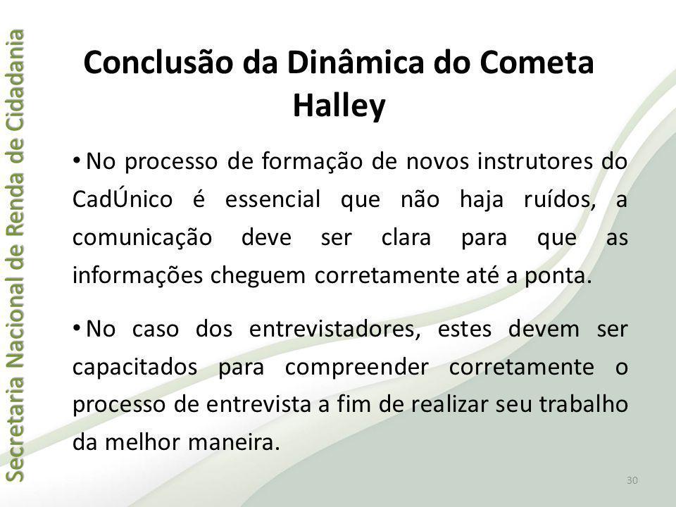 Secretaria Nacional de Renda de Cidadania Secretaria Nacional de Renda de Cidadania Conclusão da Dinâmica do Cometa Halley No processo de formação de