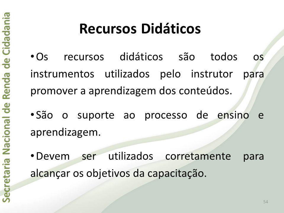 Secretaria Nacional de Renda de Cidadania Secretaria Nacional de Renda de Cidadania Recursos Didáticos Os recursos didáticos são todos os instrumentos