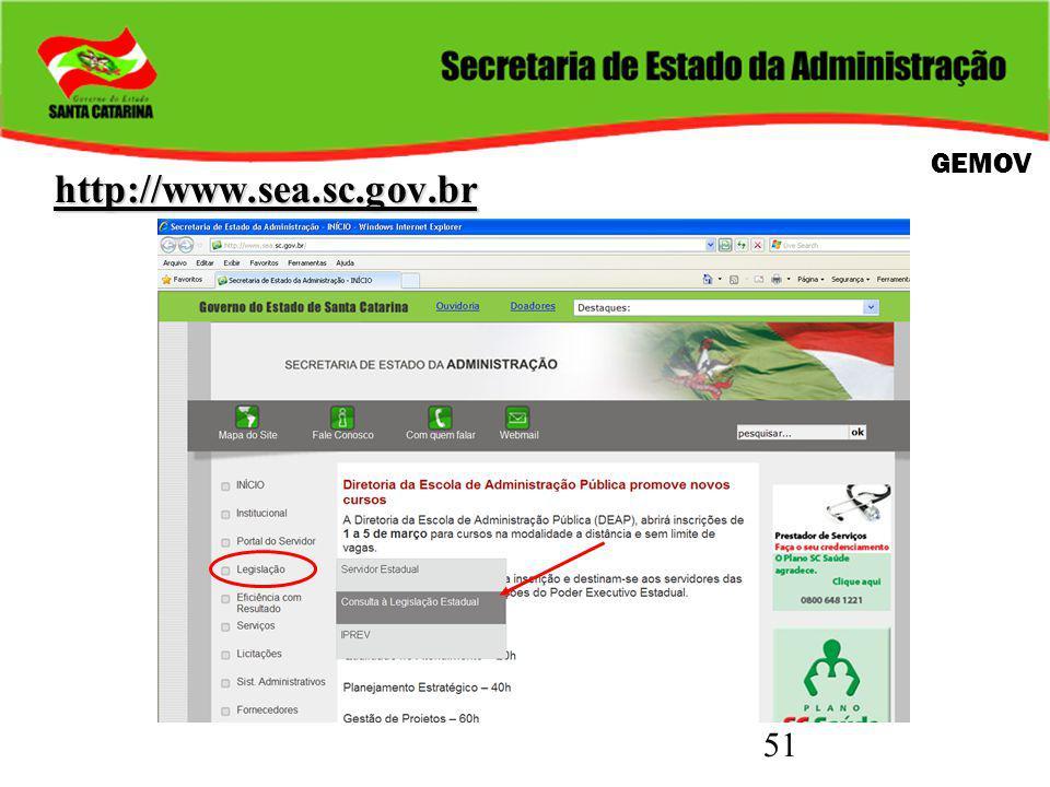 51 http://www.sea.sc.gov.br GEMOV