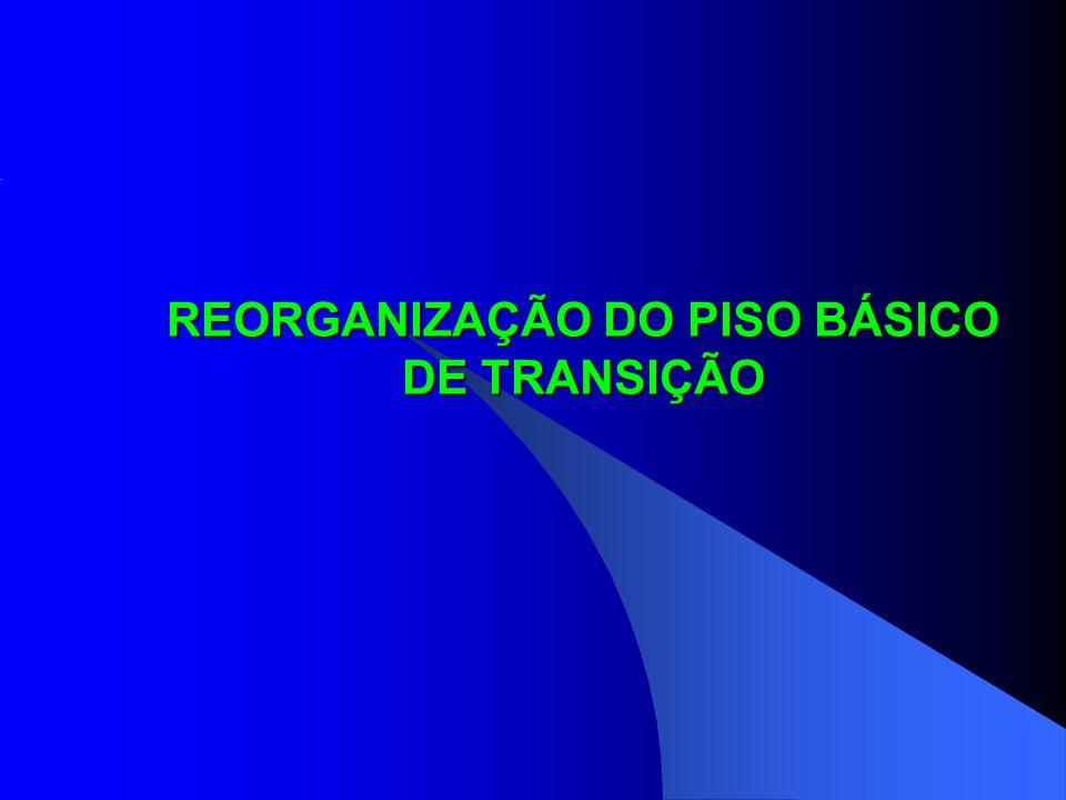 REORGANIZAÇÃO DO PISO BÁSICO DE TRANSIÇÃO