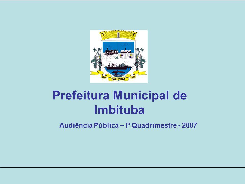 Prefeitura Municipal de Imbituba Audiência Pública – Iº Quadrimestre - 2007