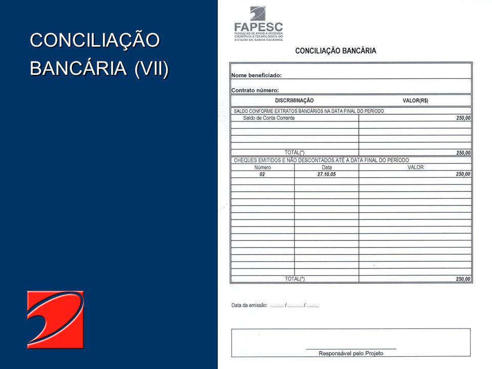 CONCILIAÇÃO BANCÁRIA (VII)