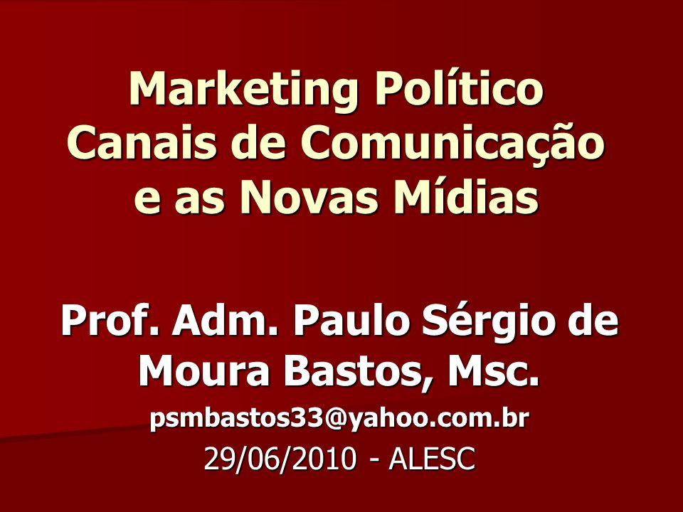 Marketing Político Canais de Comunicação e as Novas Mídias Prof.