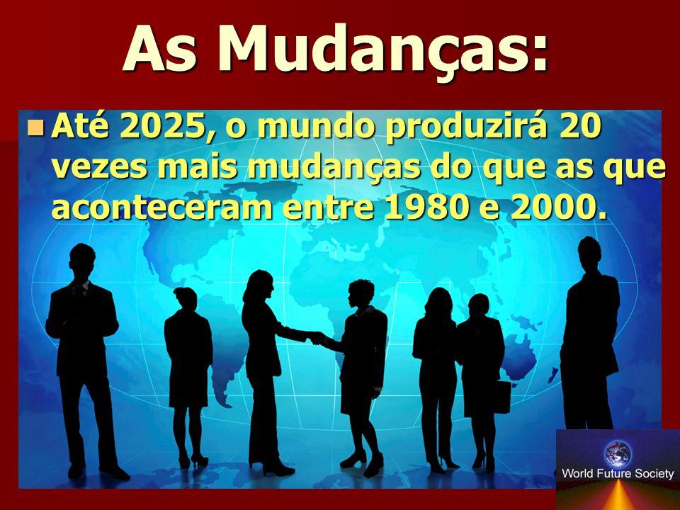 As Mudanças: Até 2025, o mundo produzirá 20 vezes mais mudanças do que as que aconteceram entre 1980 e 2000.