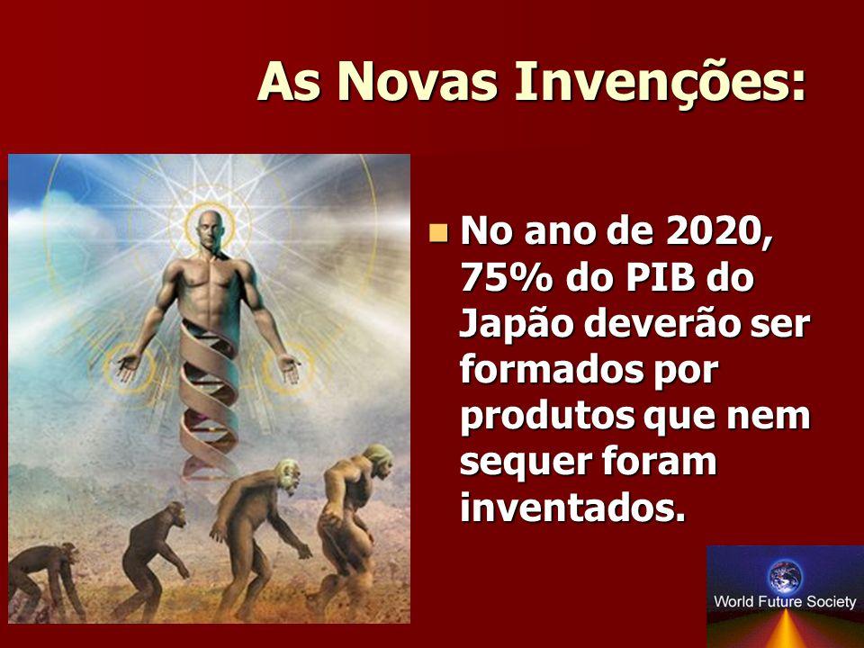 As Novas Invenções: No ano de 2020, 75% do PIB do Japão deverão ser formados por produtos que nem sequer foram inventados.