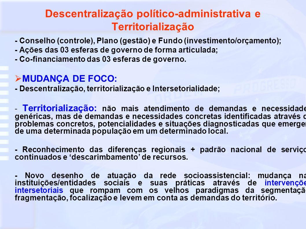 Novas bases para relação entre Estado e Sociedade Civil - Estado tem a primazia da responsabilidade na condução da política.