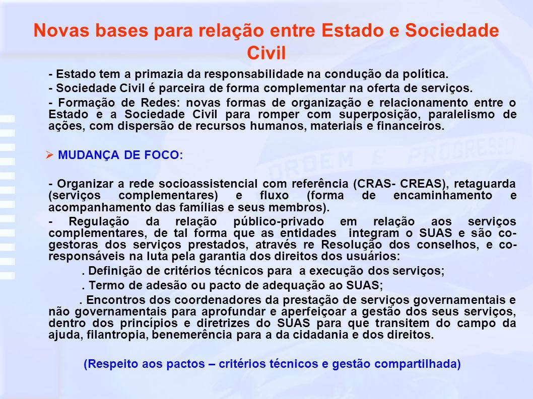 Financiamento pelas três esferas de governo, com divisão de responsabilidades - Instância de financiamento (Fundos de Assistência Social – unidades orçamentárias), que mantêm relação direta com os Planos Plurianuais de Assistência Social e Planos de Gestão de Co-financiamentos da União e Estado.