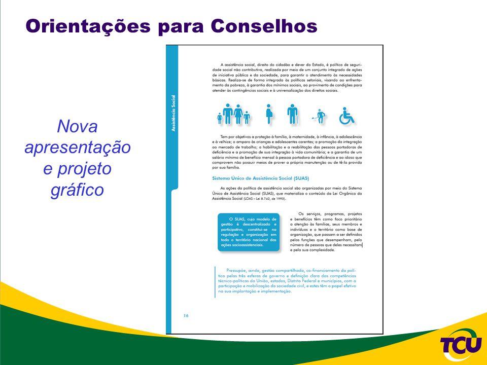 Orientações para Conselhos Nova apresentação e projeto gráfico