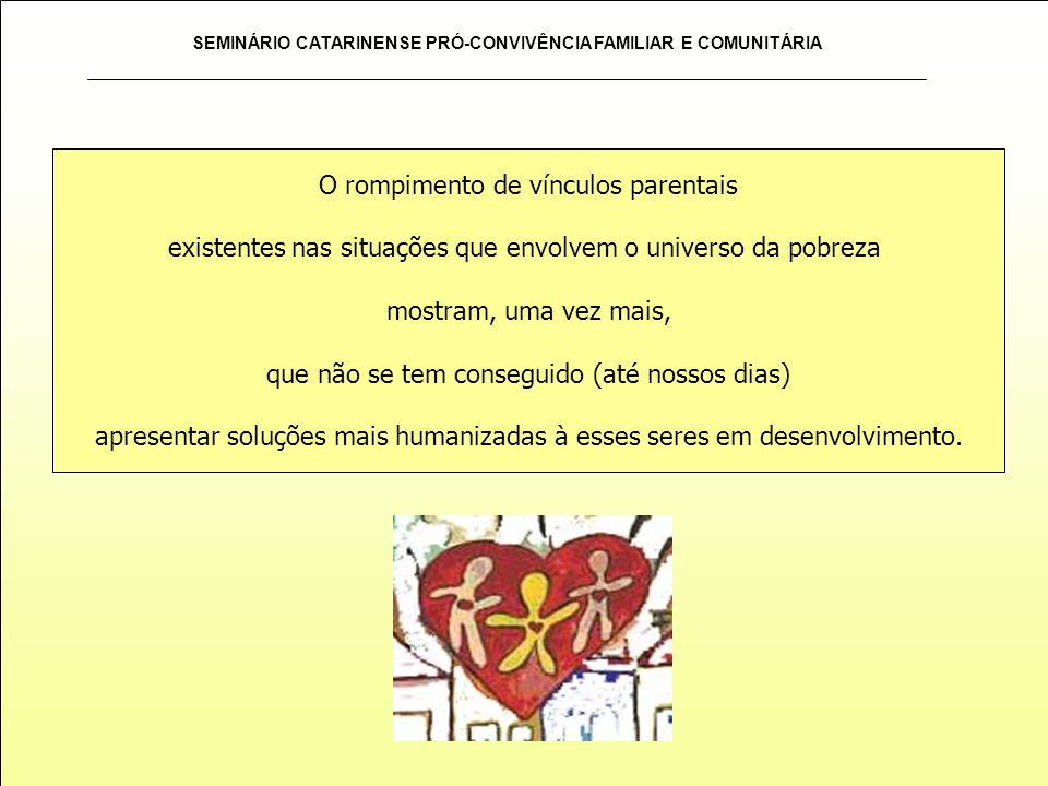 SEMINÁRIO CATARINENSE PRÓ-CONVIVÊNCIA FAMILIAR E COMUNITÁRIA Essa é uma parte da essência do programa.