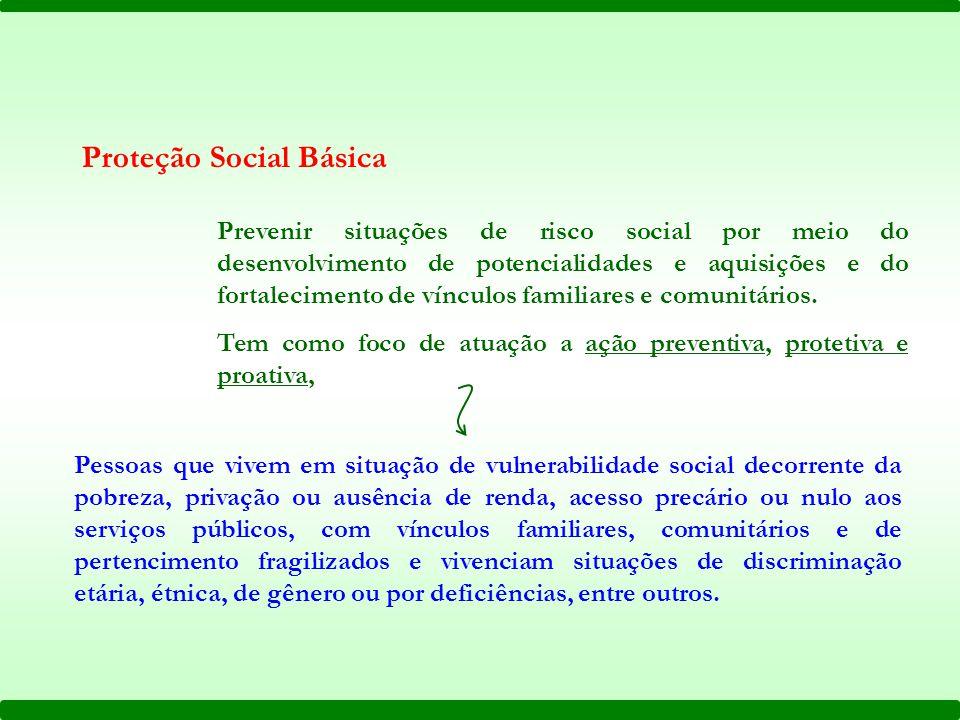 Prevenir situações de risco social por meio do desenvolvimento de potencialidades e aquisições e do fortalecimento de vínculos familiares e comunitári