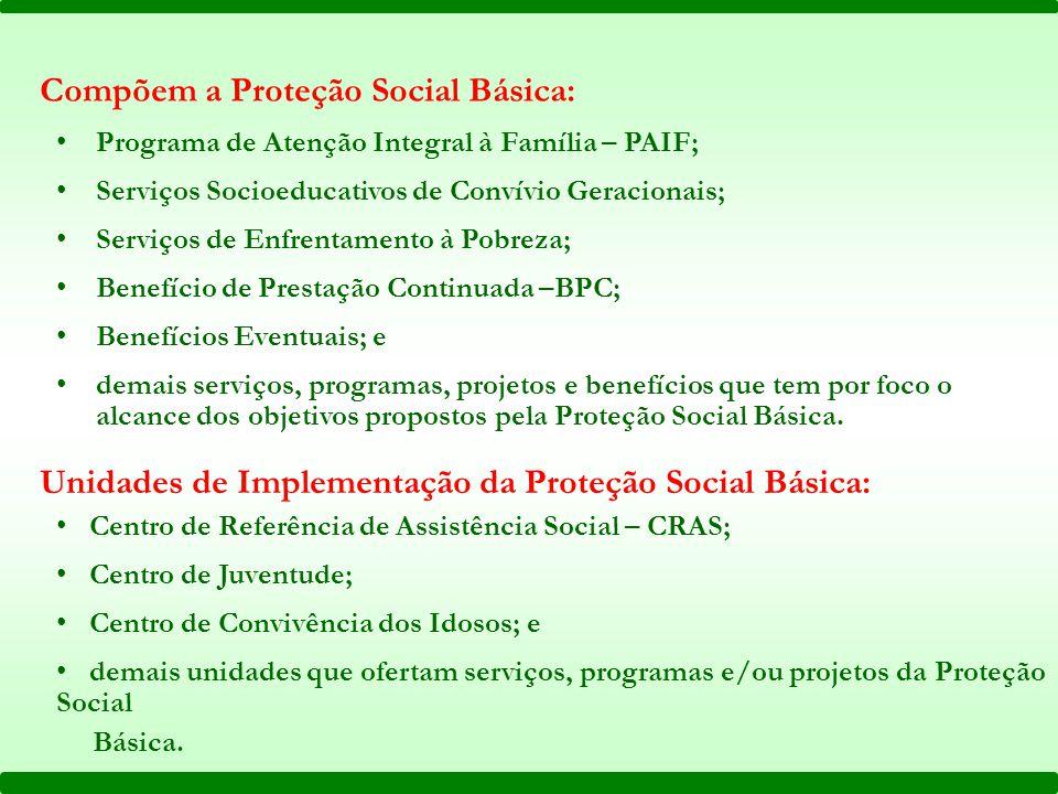 CRAS PAIF Proteção Social Básica Quadro Esquemático do PAIF e CRAS na Proteção Social Básica do Sistema Único de Assistência Social SUAS