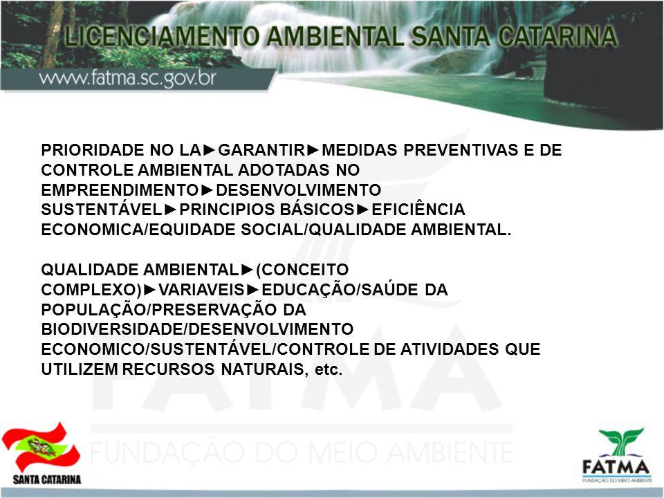 PRIORIDADE NO LAGARANTIRMEDIDAS PREVENTIVAS E DE CONTROLE AMBIENTAL ADOTADAS NO EMPREENDIMENTODESENVOLVIMENTO SUSTENTÁVELPRINCIPIOS BÁSICOSEFICIÊNCIA ECONOMICA/EQUIDADE SOCIAL/QUALIDADE AMBIENTAL.