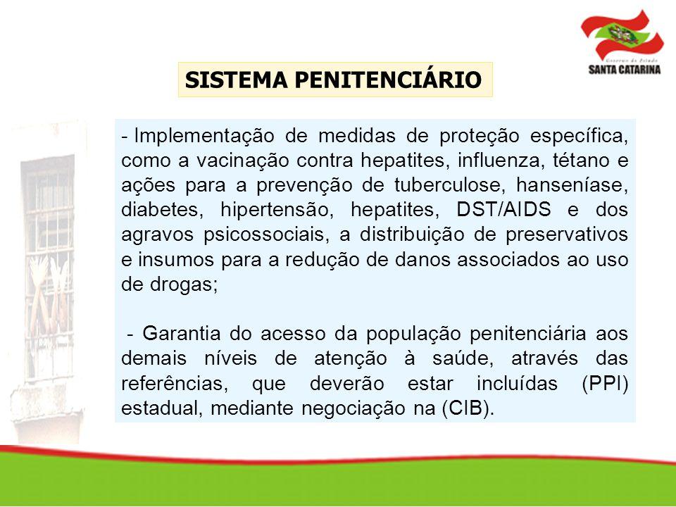 - Implementação de medidas de proteção específica, como a vacinação contra hepatites, influenza, tétano e ações para a prevenção de tuberculose, hanse