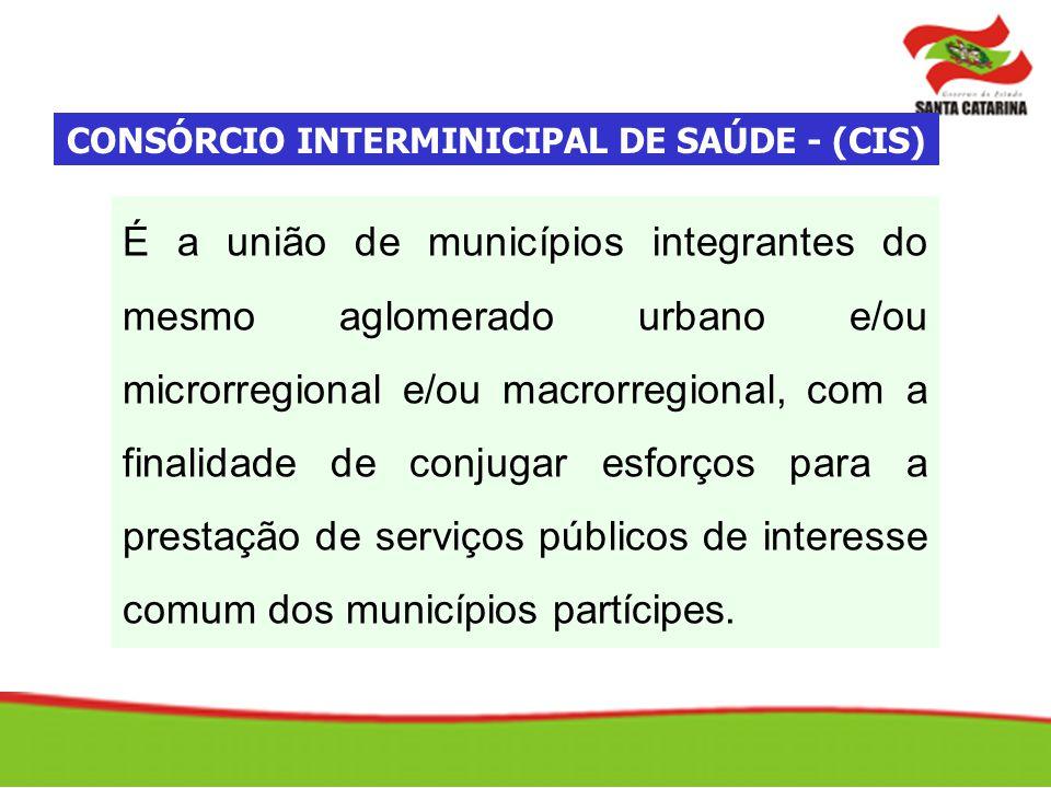 É a união de municípios integrantes do mesmo aglomerado urbano e/ou microrregional e/ou macrorregional, com a finalidade de conjugar esforços para a p