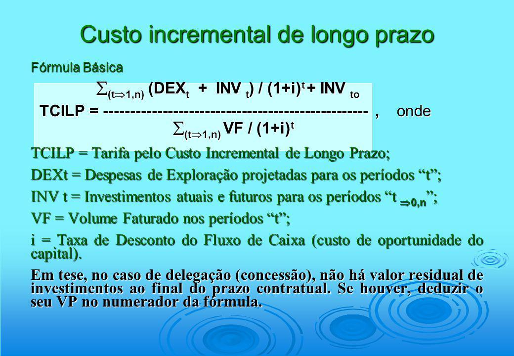Fórmula Básica (t 1,n) (DEX t + INV t ) / (1+i) t + INV to (t 1,n) (DEX t + INV t ) / (1+i) t + INV to TCILP = ---------------------------------------