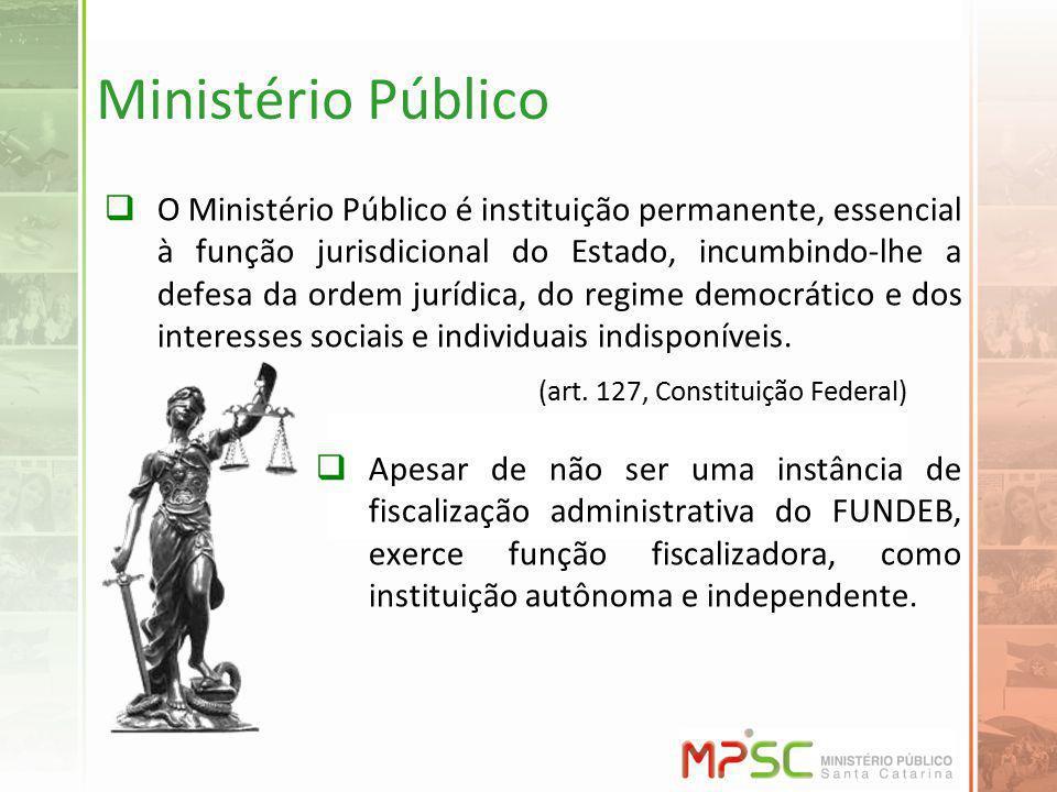 Ministério Público O Ministério Público é instituição permanente, essencial à função jurisdicional do Estado, incumbindo-lhe a defesa da ordem jurídic