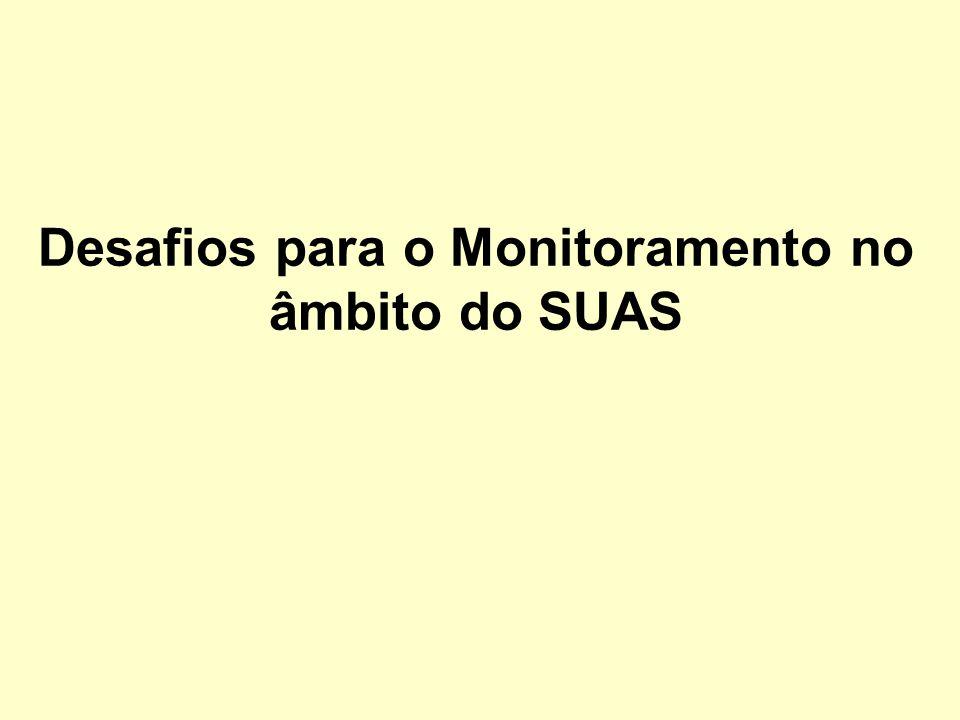 Desafios para o Monitoramento no âmbito do SUAS