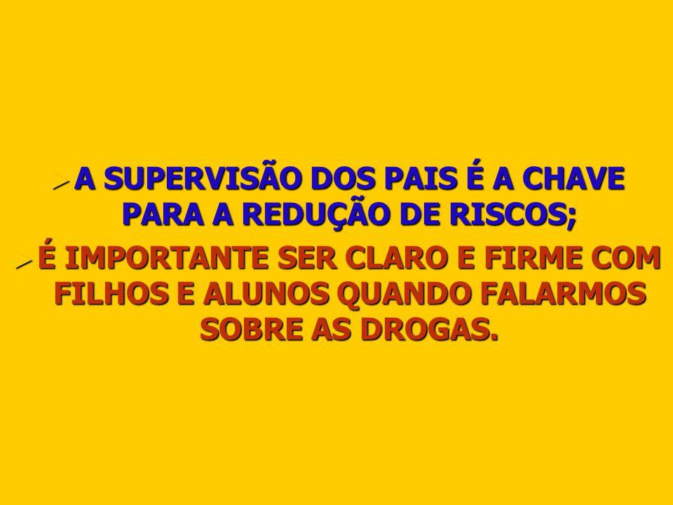 A SUPERVISÃO DOS PAIS É A CHAVE PARA A REDUÇÃO DE RISCOS; A SUPERVISÃO DOS PAIS É A CHAVE PARA A REDUÇÃO DE RISCOS; É IMPORTANTE SER CLARO E FIRME COM