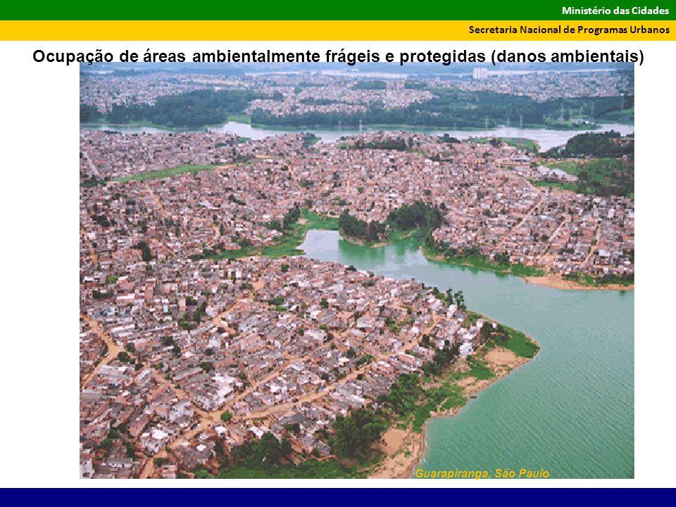 Ministério das Cidades Secretaria Nacional de Programas Urbanos Guarapiranga, São Paulo Ocupação de áreas ambientalmente frágeis e protegidas (danos a