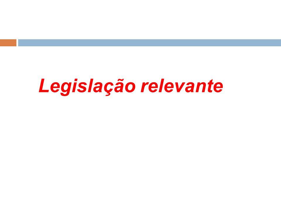 Legislação relevante