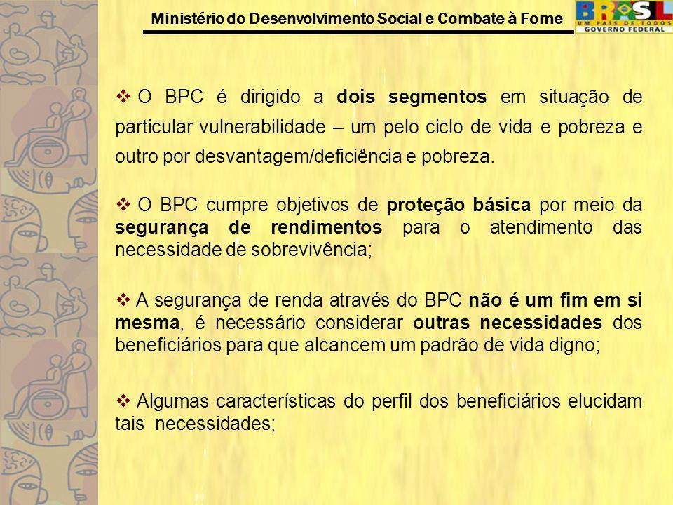 Ministério do Desenvolvimento Social e Combate à Fome Os novos paradigmas em relação aos direitos da pessoa com deficiência, como direito a acessibilidade e o direito a inclusão social; O censo de 2000 que registrou 24,5 milhões de pessoas com deficiência que representa 14% da população brasileira e destes, 9 milhões estão situadas na renda entre 0 a 5 salários mínimos.