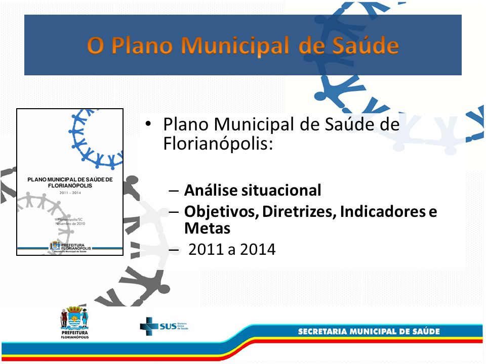 Plano Municipal de Saúde de Florianópolis: – Análise situacional – Objetivos, Diretrizes, Indicadores e Metas – 2011 a 2014