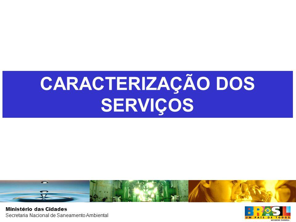 Ministério das Cidades Secretaria Nacional de Saneamento Ambiental CARACTERIZAÇÃO DOS SERVIÇOS