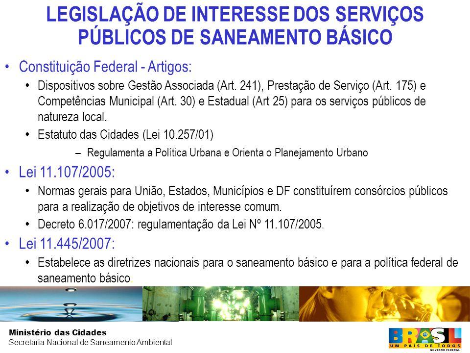 Ministério das Cidades Secretaria Nacional de Saneamento Ambiental EVOLUÇÃO DO GASTO PÚBLICO EM SANEAMENTO (2003 A 2007)