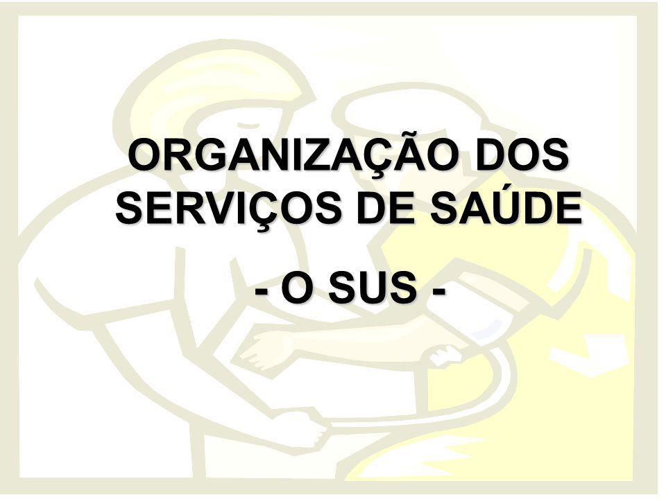 ORGANIZAÇÃO DOS SERVIÇOS DE SAÚDE - O SUS -