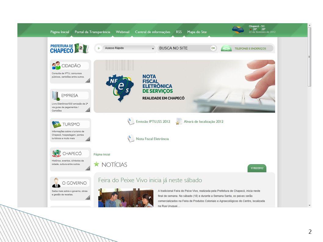 13 DADOS DA EMPRESA Nesta tela informe os dados da Empresa Prestadora de Serviço.