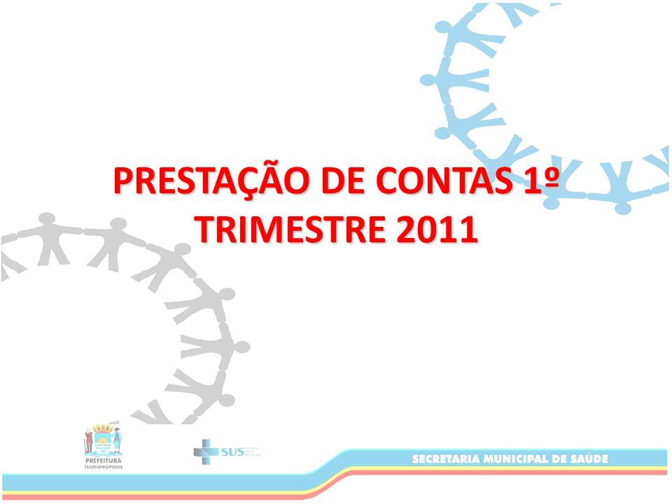 PRESTAÇÃO DE CONTAS 1º TRIMESTRE 2011