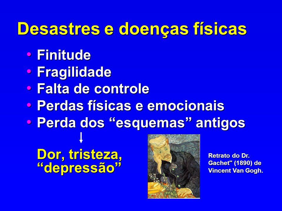 Desastres e doenças físicas Finitude Finitude Fragilidade Fragilidade Falta de controle Falta de controle Perdas físicas e emocionais Perdas físicas e